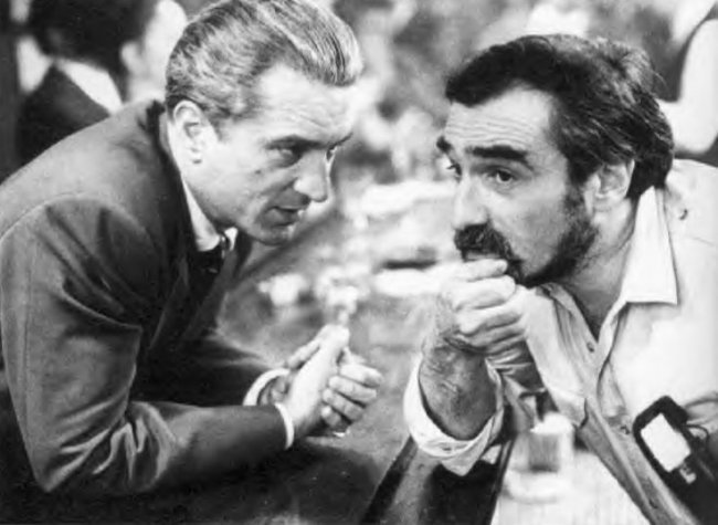 De Niro and Scorsese on the set of Goodfellas