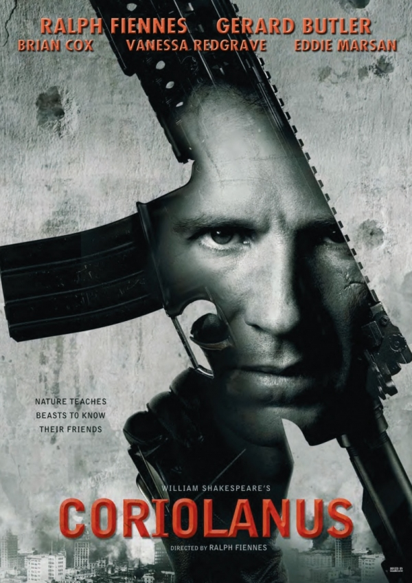 untitledfilmblog: Coriolanus (Dir. Ralph Fiennes) Caius Martius 'Coriolanus' (Ralph Fiennes), a revered and feared Roman General is at odds with the city of Rome and his fellow citizens. Pushed by his controlling and ambitious mother Volumnia (Vanessa Redgrave) to seek the exalted and powerful position of Consul, he is loath to ingratiate himself with the masses whose votes he needs in order to secure the office. When the public refuse to support him, Coriolanus's anger prompts a riot which culminates in his expulsion from Rome. The banished hero then allies himself with his sworn enemy Tullus Aufidius (Gerard Butler) to take his revenge on the city.