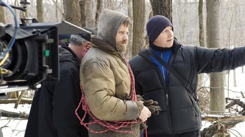 fuckyeahdirectors: John Hillcoat with Viggo Mortensen on the set of The Road.