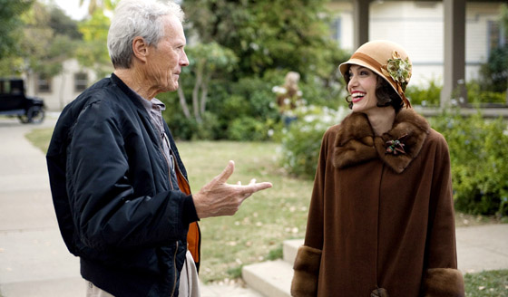 fuckyeahdirectors: Clint Eastwood with Angelina Jolie on the set of Changeling.