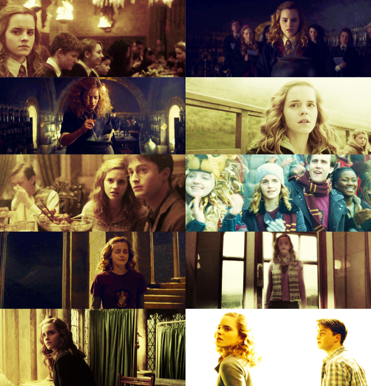 cloakwandstone: 10 Favourite Screencaps of Hermione Granger - Harry Potter and the Half-Blood Prince