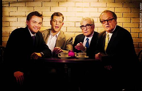 fuckyeahdirectors: Leonardo DiCaprio, Matt Damon, Martin Scorsese, and Jack Nicholson.
