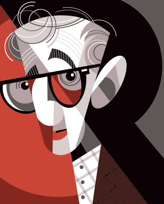 oldfilmsflicker: Woody Allen by Pablo Lobato