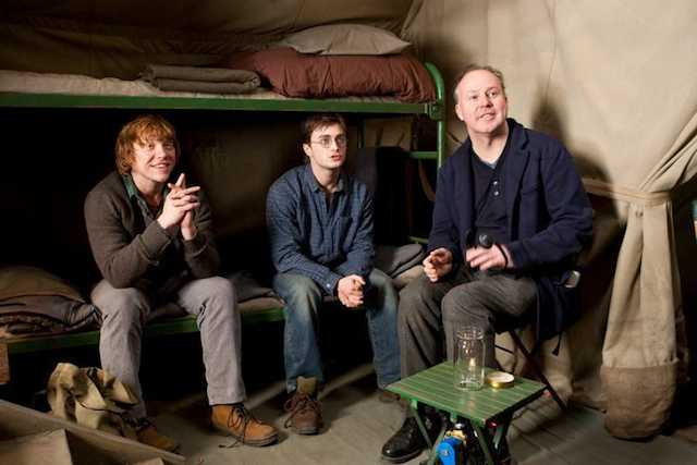 fuckyeahdirectors: David Yates with Rupert Grint and Daniel Radcliffe on the set of Harry Potter and the Deathly Hallows: Part 1