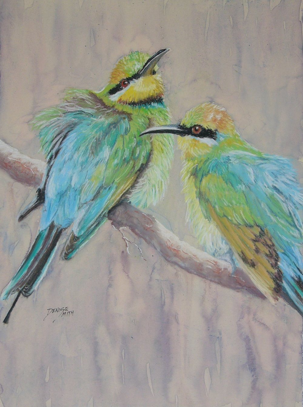 Bee Eaters - Denise Smith - Pastel.JPG