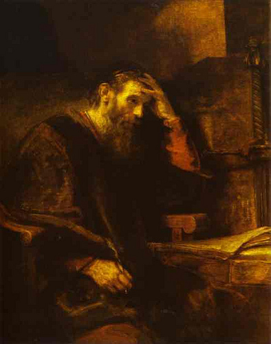 Rembrandt, St. Paul in Thought