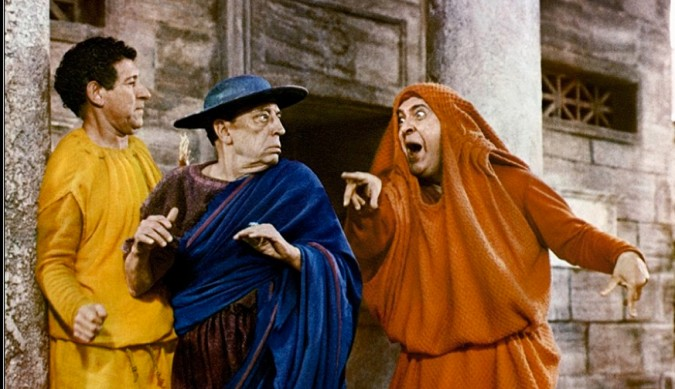 "Even though there are no crucifixion jokes in ""A Funny Thing Happened on the Way to the Forum,"" it's a hit musical based on Plautus' plays and provides a great sense of his what his ""clever slave"" characters were up to and up against."