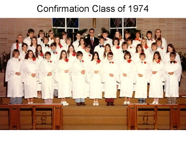 This was NOT my confirmation class, but was something like it....