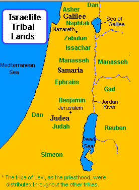 Where each of the tribes finally settled, west and east of the Jordan