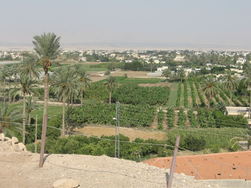 Modern Jericho, just north of the land where Sodom and Gomorrah would have been situated.