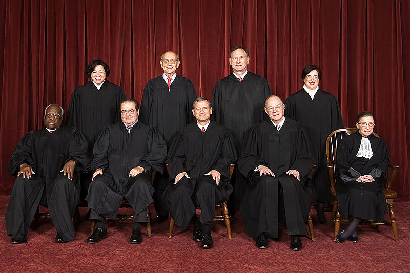 The US Supreme Court 2015.  Including a most demure (-looking) Justice Ruth Bader Ginsberg.