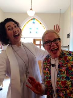 Kindred souls Laura Gentry and Jane Voigts both managed and delighted in Ascension Day chaos.