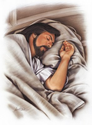 Sleeping Jesus in a snow shaker?  Revolving atop a music box?  How about on a snuggly pillowcase?