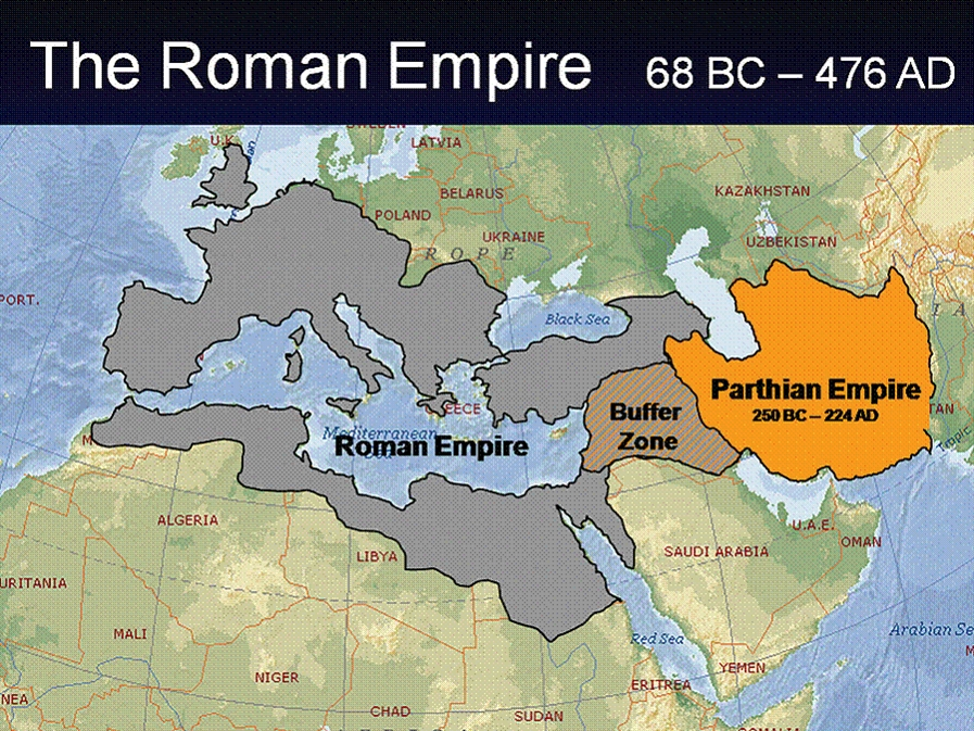 The only state which stood against the Romans almost as a peer and did not submit to it was the Parthian Kingdom.