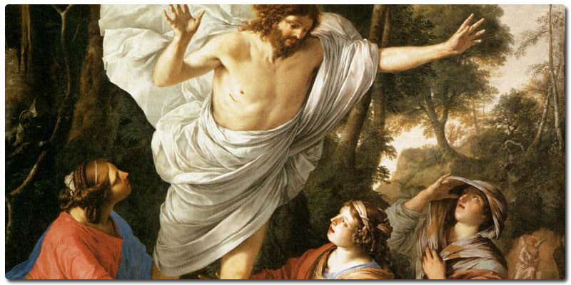One of MANY brilliant pieces of art depicting what the Bible says happened on Easter. Jesus appears to WOMEN and WOMEN only. The Church and its gospel message are to begin from here.