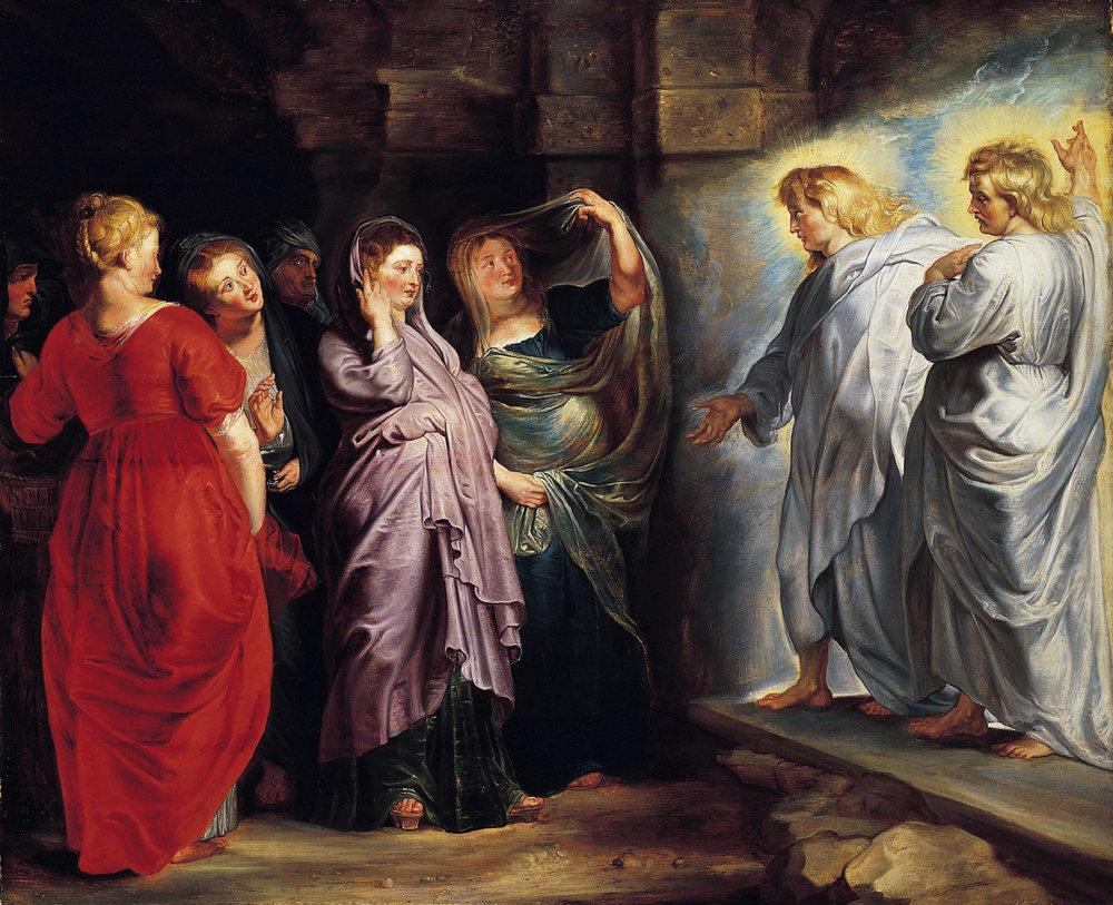 Lotsa WOMEN in Luke's Easter.