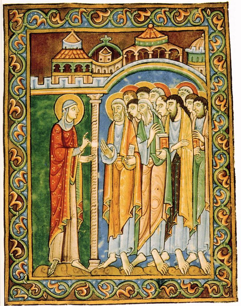 In John's Easter, a WOMAN (Mary Magdaline) tells the men what they're supposed to learn. Nope.