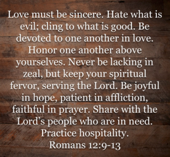There are the Paul's words found just before Romans 13:1-7