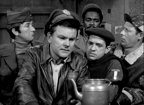 This was always one of my favorite gismos...the teapot that intercepts Nazi communiques.