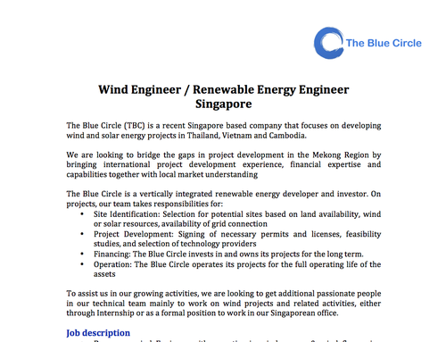 wind engineerpng - Singapore Visa Covering Letter Sample