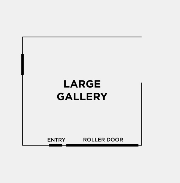 SPACE OPTION 1: LARGE GALLERY - 7.3m x 8.1m (59sqm)The naturally lit studio space features large white plaster walls, black steel windows and dark concrete floor. Perfect for workshops or classes with 10 - 50 people, or if you simple would like a little more space.