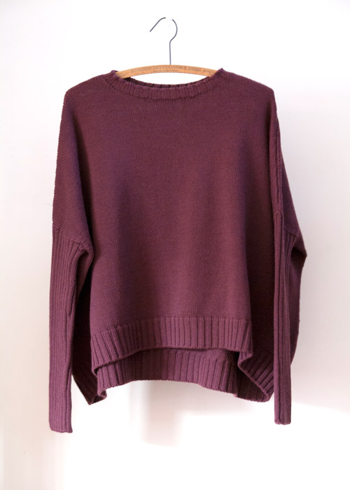 chunky crop knit