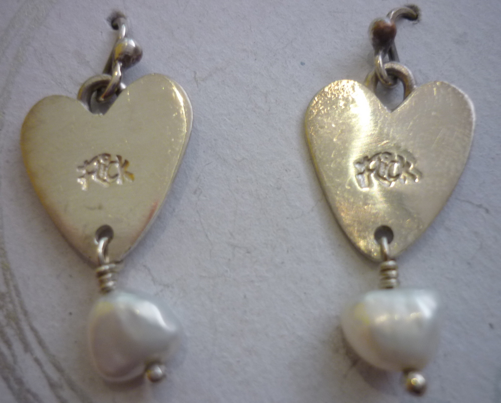 heart with pearl drop