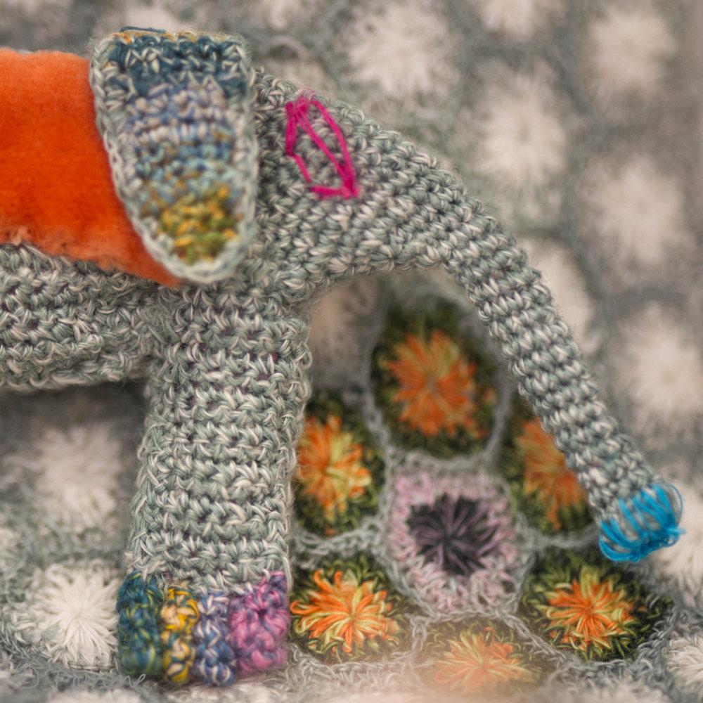 Sophie Digard elephant brooch