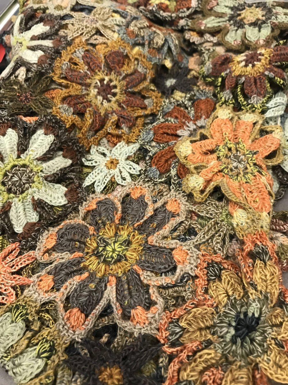 Sophie Digard floral weave scarf
