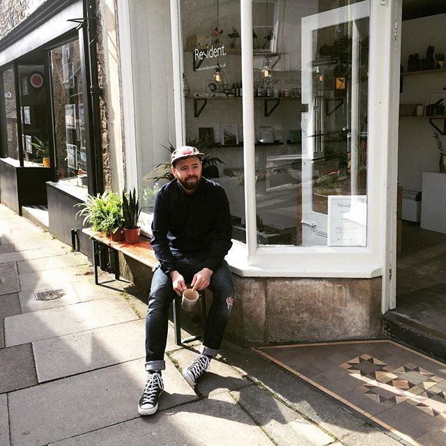 @greg_n10 AKA Sunday Boy outside our new home at @resident_store  #somerset #frome #electricalshop #westcountry #shoplocal