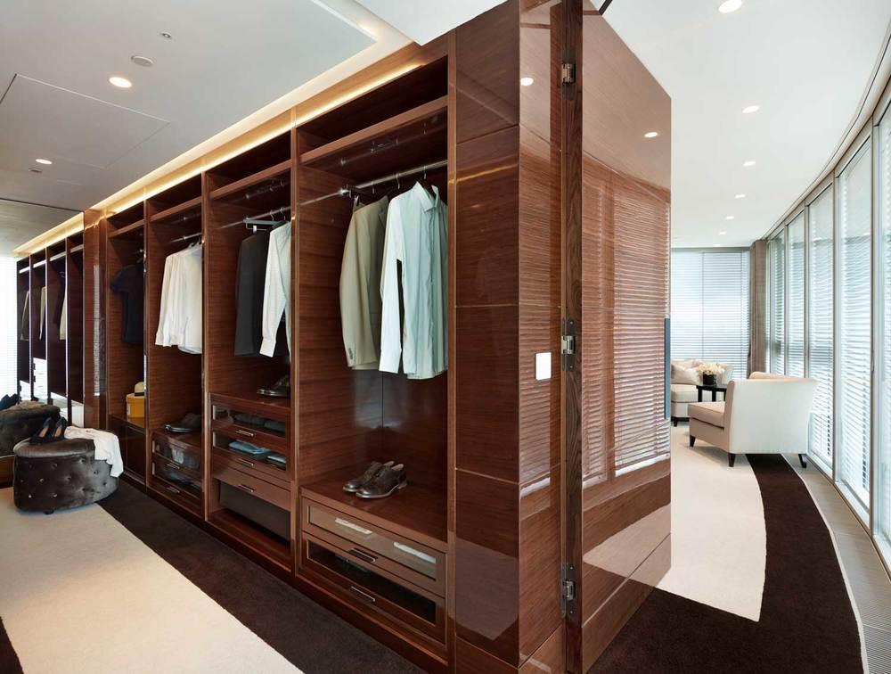 英国伦敦圣乔治码头一号塔楼室内设计,为高端豪华顶层公寓室内装饰所