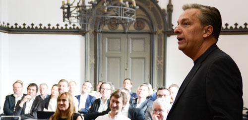 Stuart Rough addressing Building Momentum