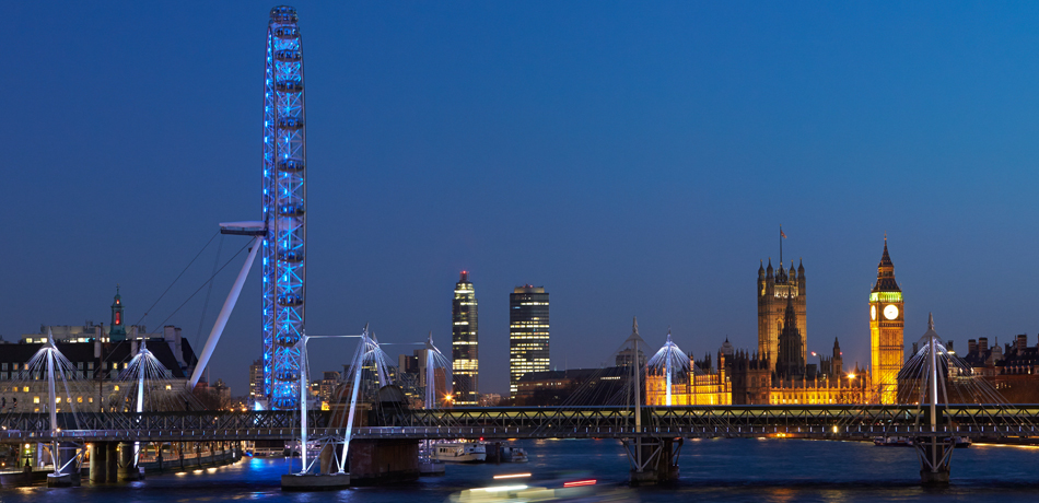 In the iconic view from Waterloo Bridge, The Tower One St George Wharf takes centre stage