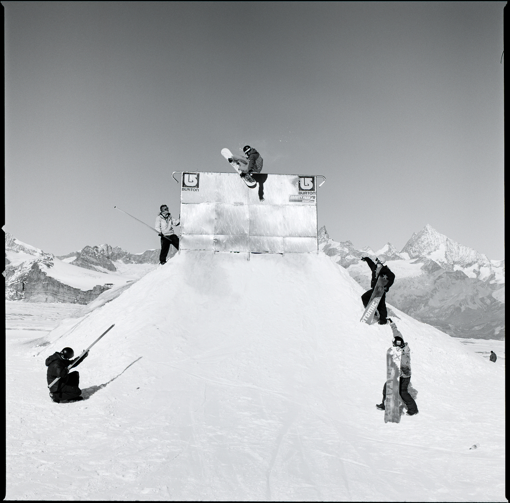 NTG in Switzerland. Zermatt Gravity Park. On print in Ultra Sport 2005.