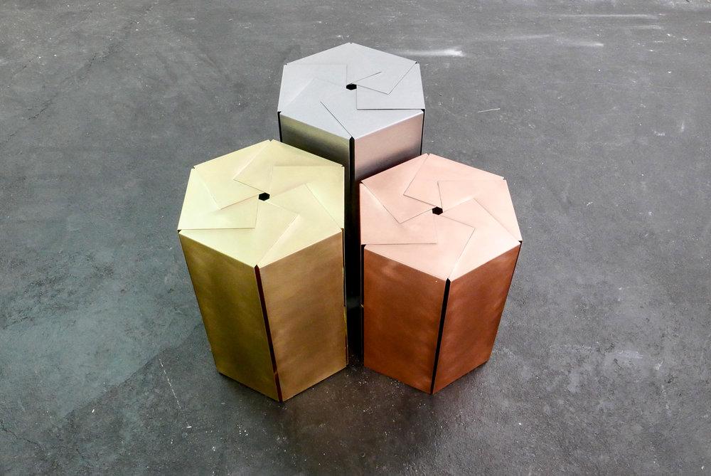 MAMOWORKS. Hexagon Sidetable by Maximilian Moosleitner. Product design. Furniture Design. Salzburg Austria.