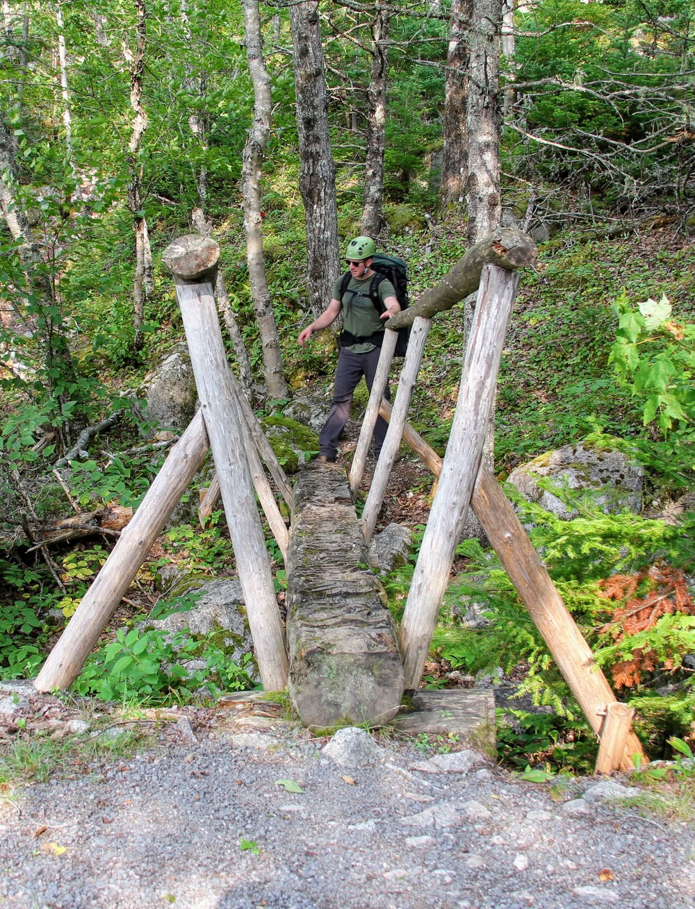 Wooden Bridge marks the start of the forest hike