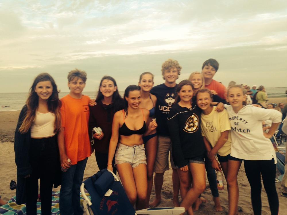 BI members at beach 2014