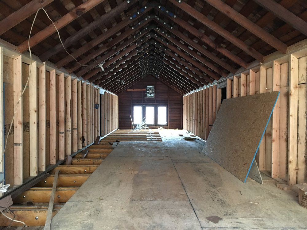 Attic flex space.