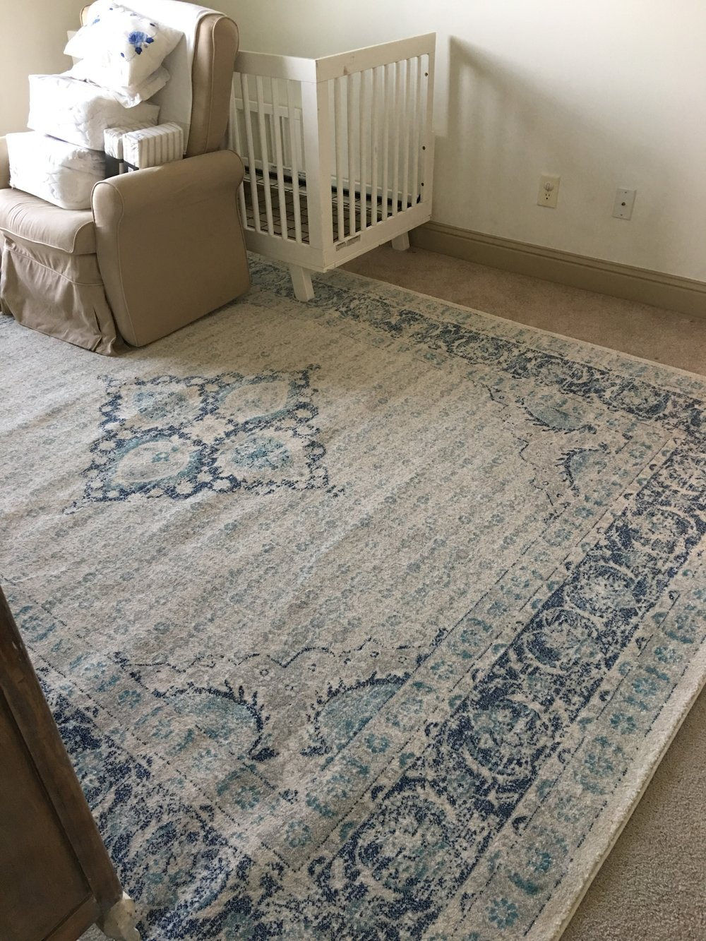 rug in place