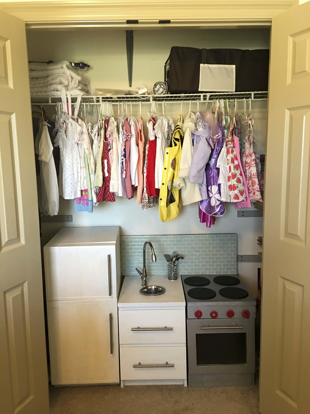 BEFORE: nursery closet for one