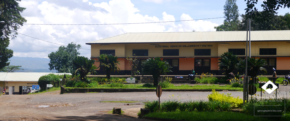 The former administrative building, now the post-office.