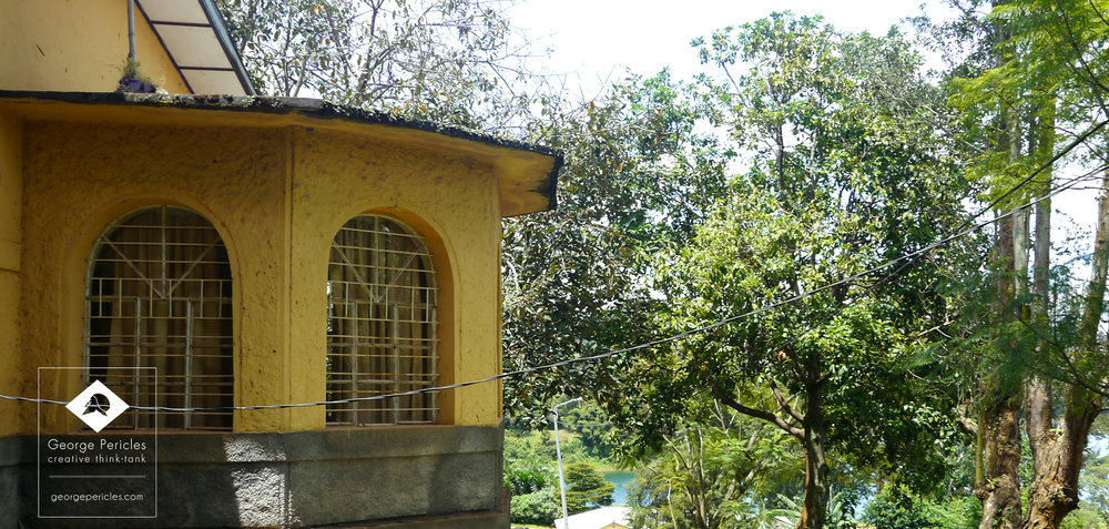 Detail of the bow-window over looking Kivu Lake