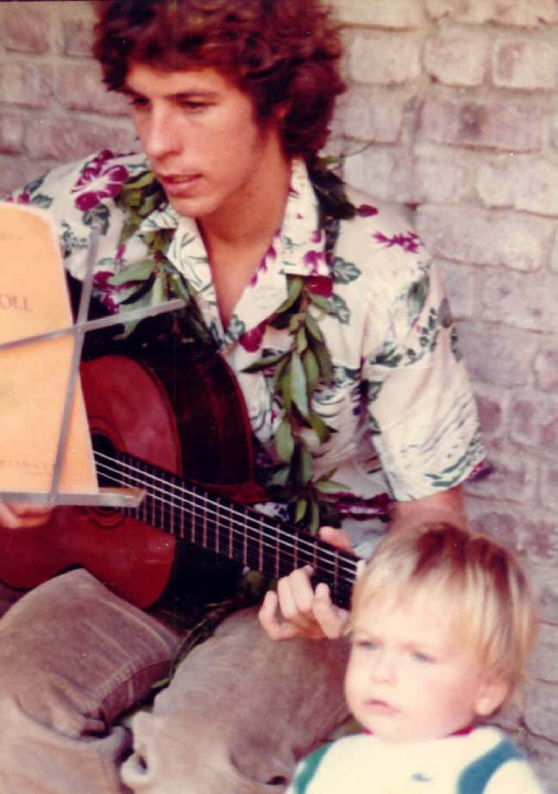 Dey Martin and son, Hawaii 1981 (pictured playing his 1975 Ramirez 1A concert classical guitar.)