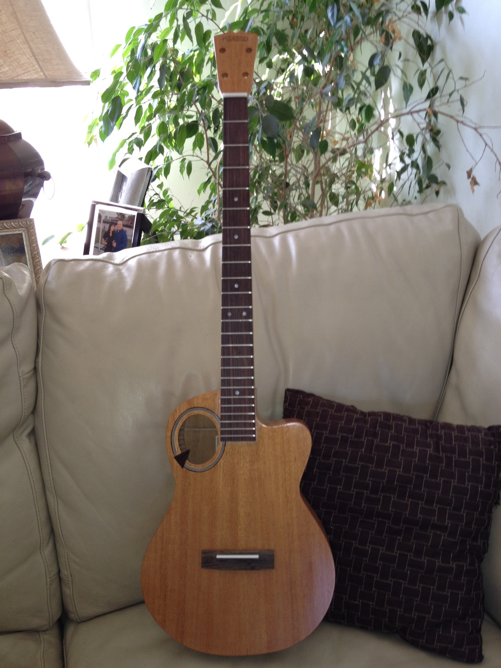 Q model custom XL stretch  neck baritone ukuele
