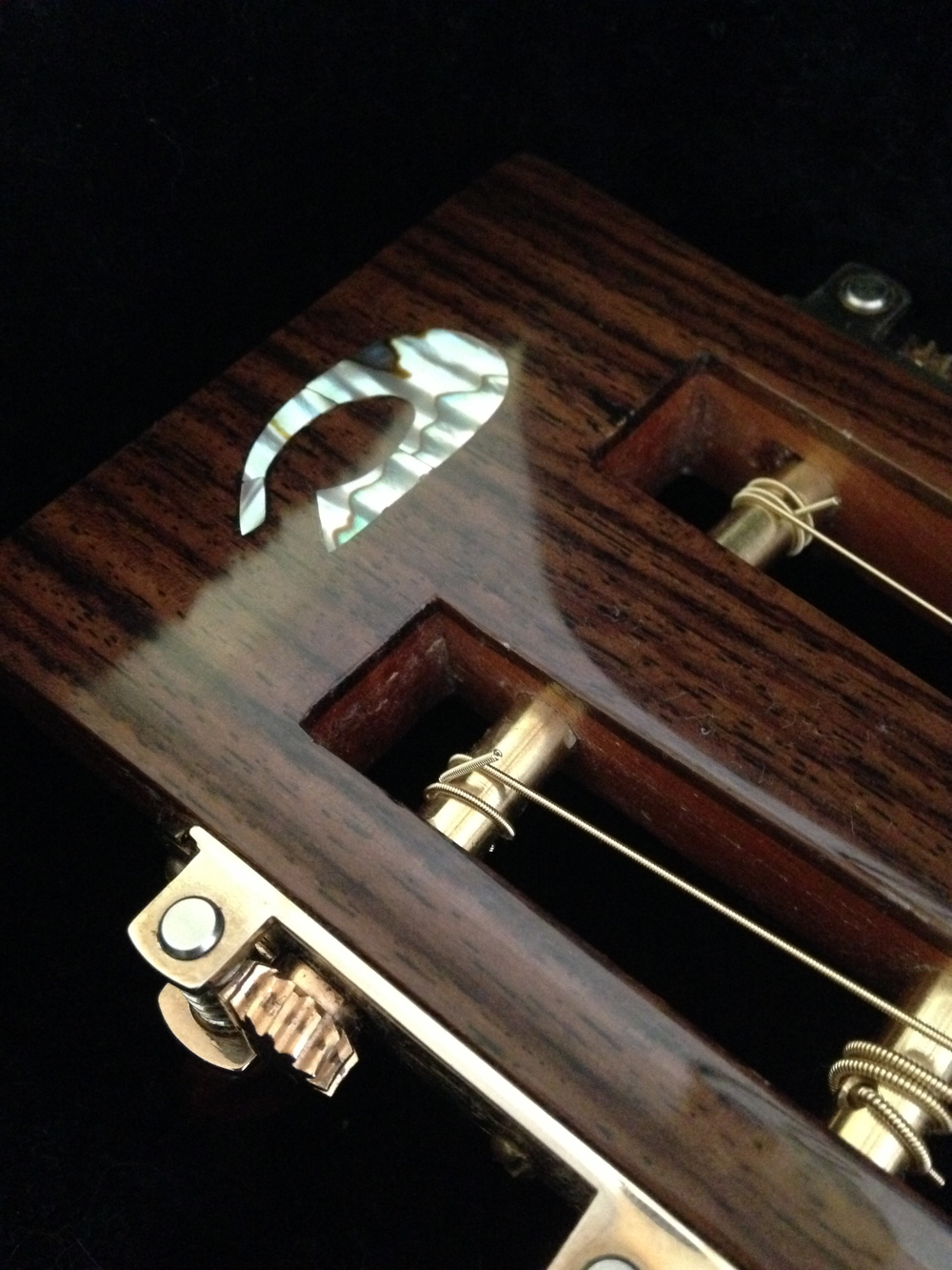 Headstock logo of Dey Martin Guitars