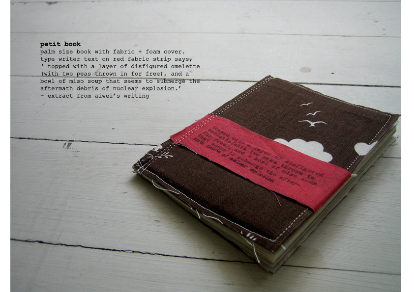 Fabric cover book design.