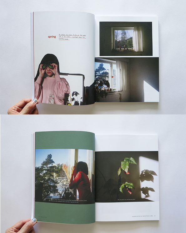 Semi Private Life in Helsinki   is a visual journal in four parts. It documents the every-other-day life of the artist during her years in Finland.  SEMI PRIVATE LIFE IN HELSINKI (Spring issue) 95 Pages Perfect-bound Paperback 190 x 245 mm Full Colour Offset