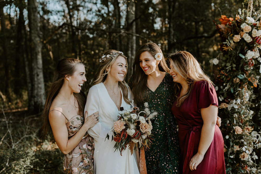 I opted out of having bridesmaids, because I wanted our ceremony to be simple & intimate. These girls right here share a lifetime bond of friendship with me, though, and it meant the world for them to be here to celebrate.