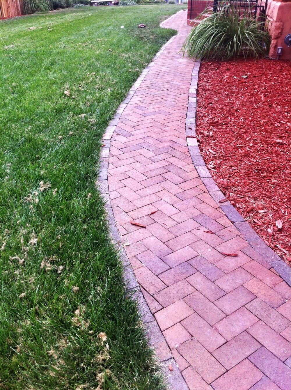 Paver Walkway.