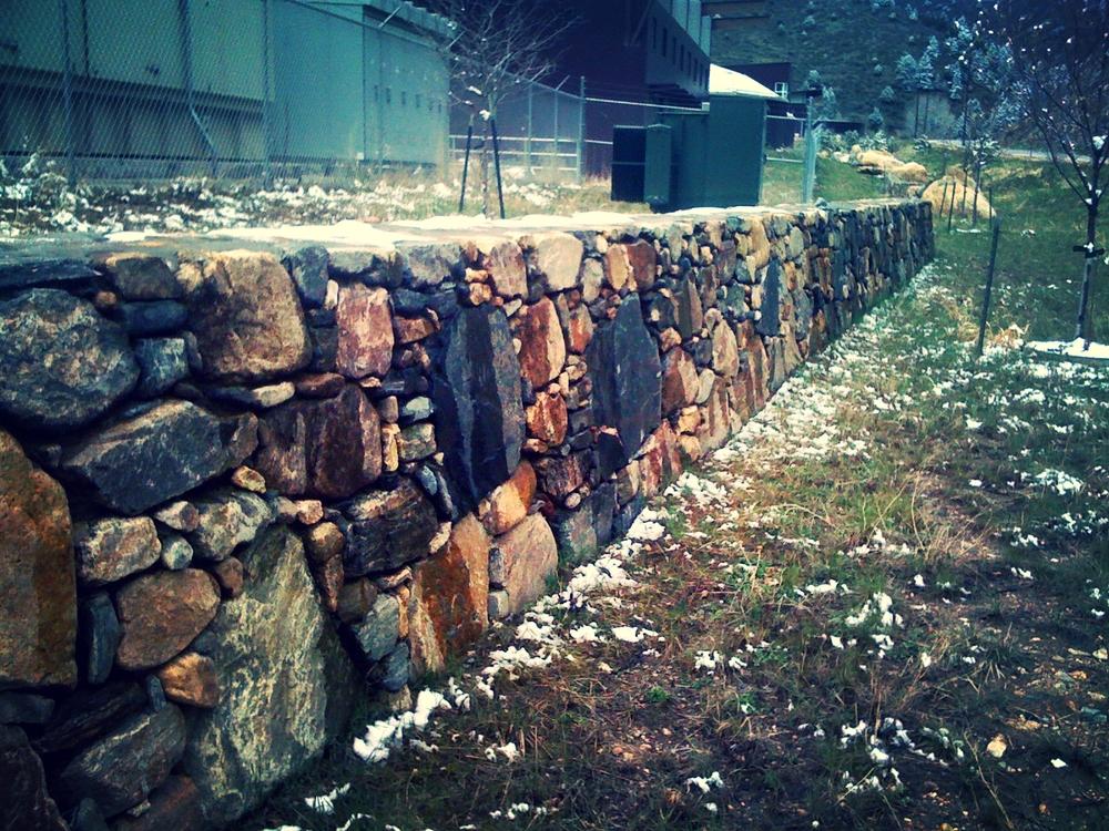Cobblestone Retaining Wall.